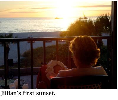 Jillians first sunset